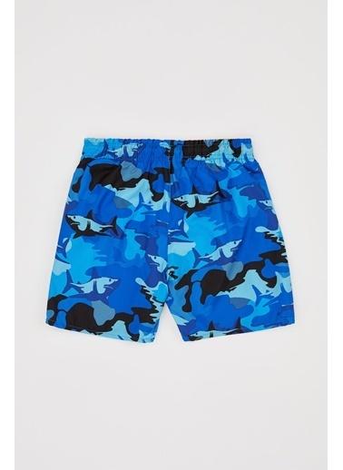 DeFacto Erkek Çocuk Köpek Balığı Baskılı Deniz Şortu Mavi